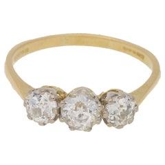 Edwardian Three-Stone Diamond Engagement Ring