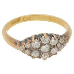 Vintage Diamond Dress Ring in 18 Carat Gold