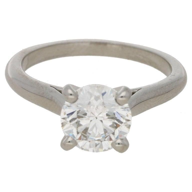 Cartier Diamond 1.83 Carat Single Stone Engagement Ring
