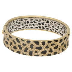 Roberto Coin 18 Carat Gold Hinged Diamond Bangle