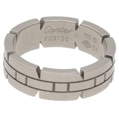 Cartier Tank Ring 18 Karat White Gold