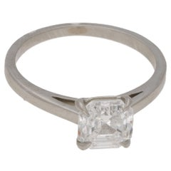 1.52ct Asscher Cut Diamond Single Stone Engagement Ring