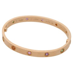 18 Karat Gold Cartier Rose Gold Love Bangle