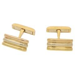 18 Karat Tri Gold Cartier Cufflinks