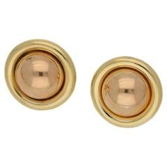 18 Karat Gold Vintage Earrings