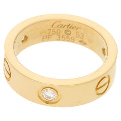 18 Karat Gold Diamond Cartier Love Ring
