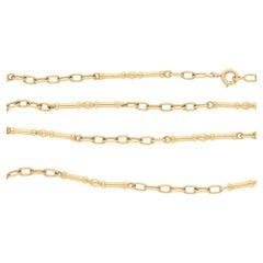 18 Karat Gold Cartier Fancy Link Long Chain