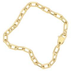 Cartier 18 Karat Gold Chain Link Bracelet