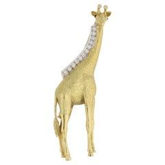 18 Karat Gold Giraffe Brooch