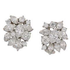Marquise Diamond Spray Earrings