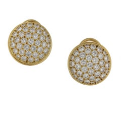 Fred Pave Diamond Gold Earrings