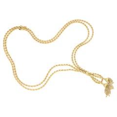 18 Karat Gold Vintage Tassel Necklace