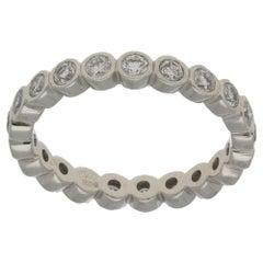 Platinum Collet Set Diamond Eternity Ring