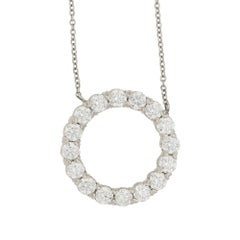 Diamond Circle Pendant on Chain