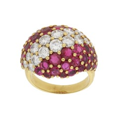 1950s Ruby Diamond Cocktail Ring