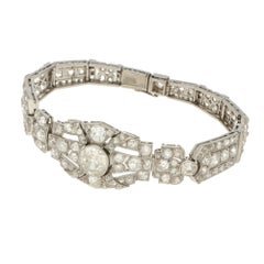 Art Deco Gold Diamond Bracelet