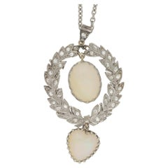 Belle Epoch Opal Diamond Wreath Pendant
