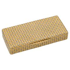 1960s Gold Woven Box