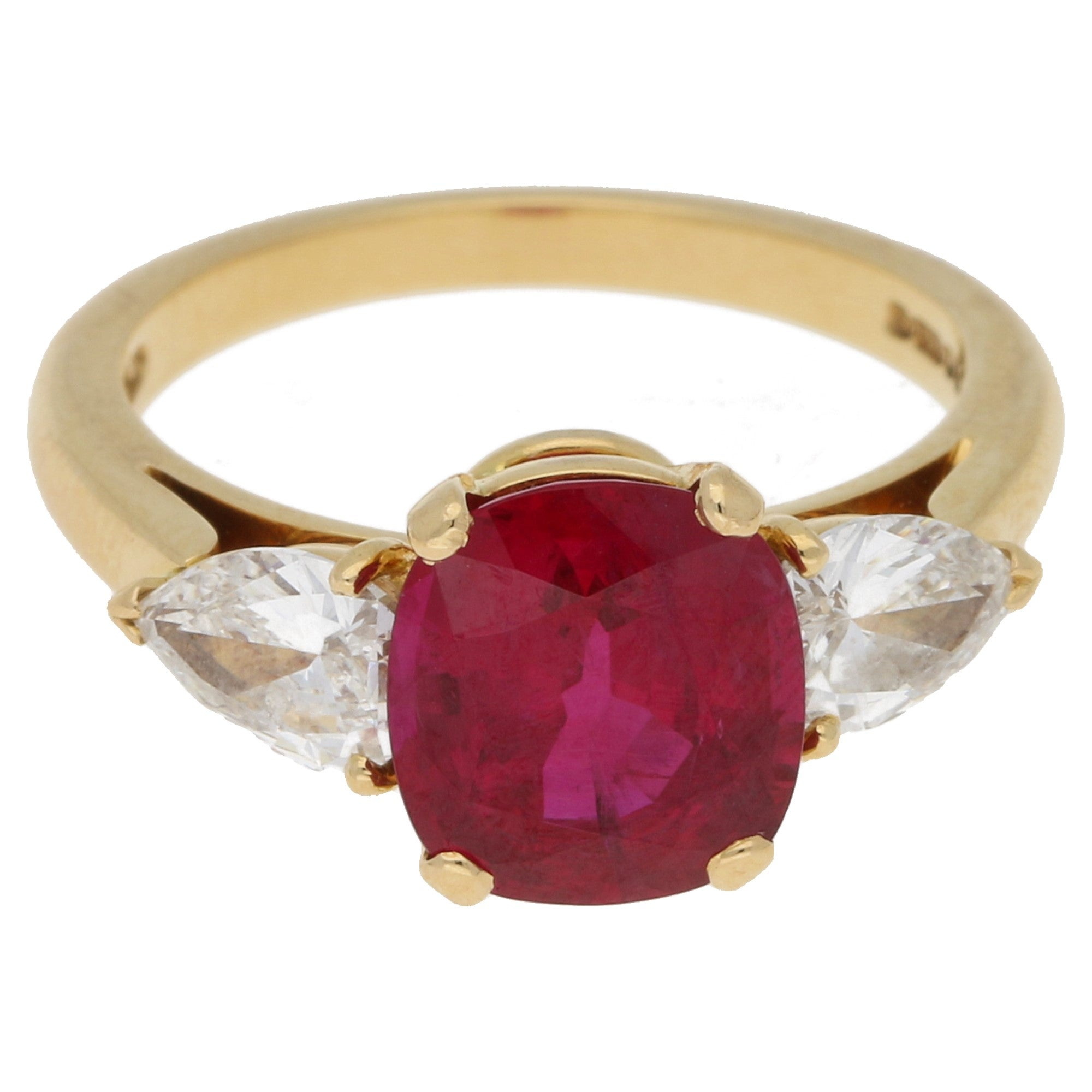 fine rubin high bandring bril mit yellow quality ring ruby diamonds brilliant gold in und with band diamond itm hochwertiger