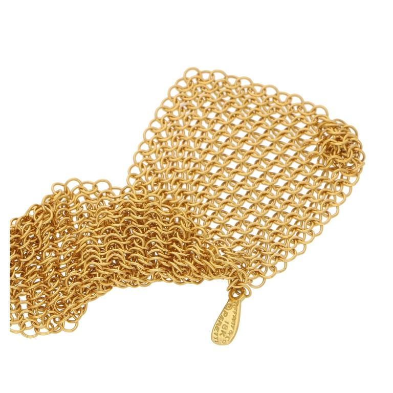 Tiffany & Co. Elsa Peretti Gold Mesh Necklace Scarf In Excellent Condition For Sale In London, GB
