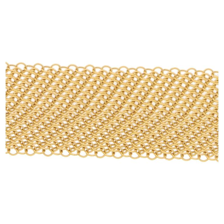 Women's or Men's Tiffany & Co. Elsa Peretti Gold Mesh Necklace Scarf For Sale