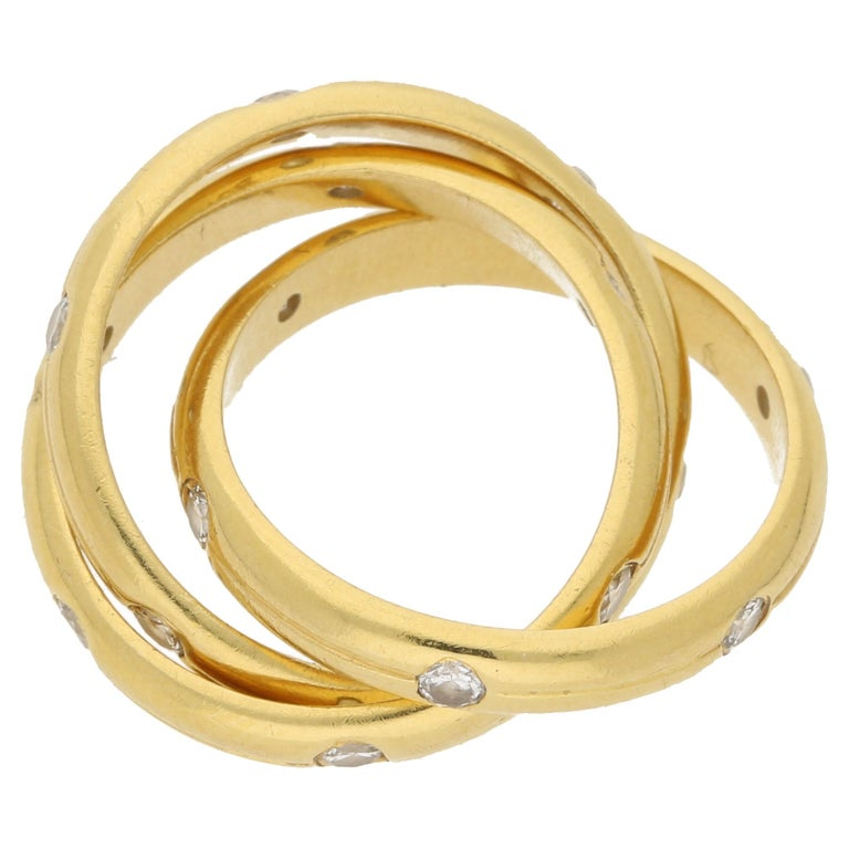 18 Karat Gold Diamond Tiffany And Co Russian Ring For Sale At 1stdibs
