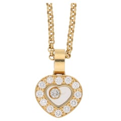 18 Karat Gold Chopard 'Happy Diamonds' Pendant