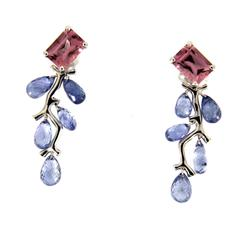 Jona Sapphire Spinel Gold Drop Earrings