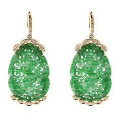 Jona Jade Diamond Gold Earrings