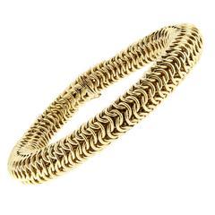 Jona 18 Karat Yellow Gold Flexible Link Bracelet