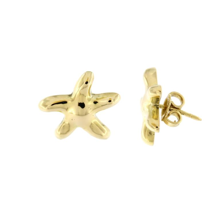 Jona design collection, hand crafted in Italy, 18 karat yellow gold starfish stud earrings.   All Jona jewelry is new and has never been previously owned or worn. Each item will arrive at your door beautifully gift wrapped in Jona boxes, put inside