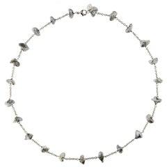 Jona Tahiti Grey Keshi Pearl 18 Karat White Gold Necklace