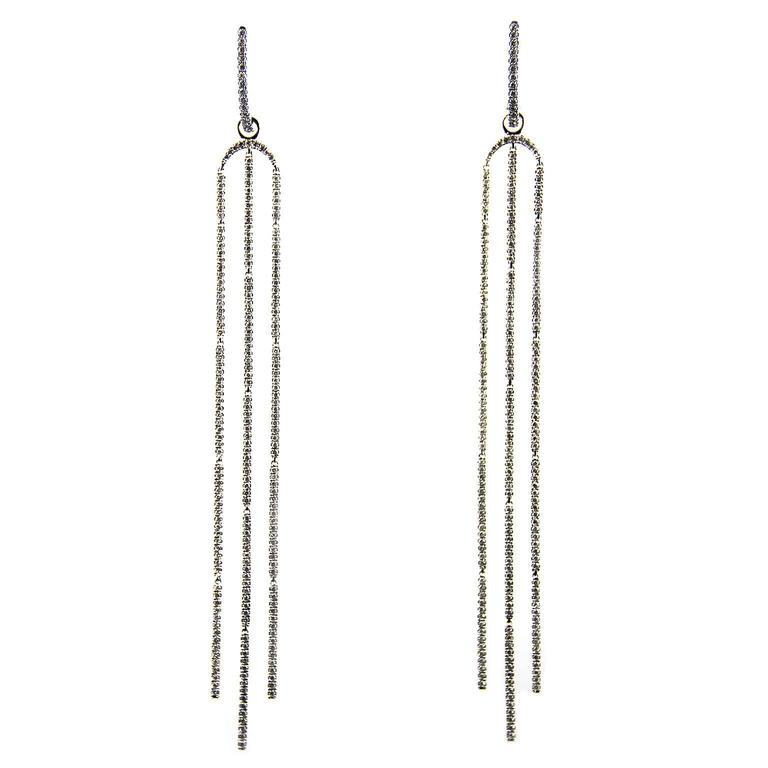 Jona White Diamond Chandelier 18k White Gold Chandelier Earrings