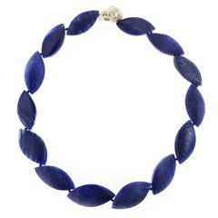 Jona Blue Quartz Navette Necklace