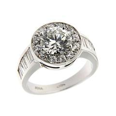 Jona Diamond Halo Engagement White Gold Ring