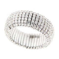 Jona White Diamond 18 Karat White Gold Flexible Ring