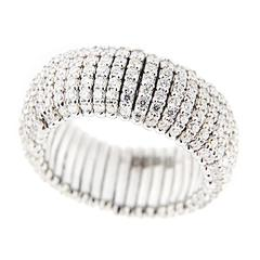 Jona Diamond White Gold Flexible Ring