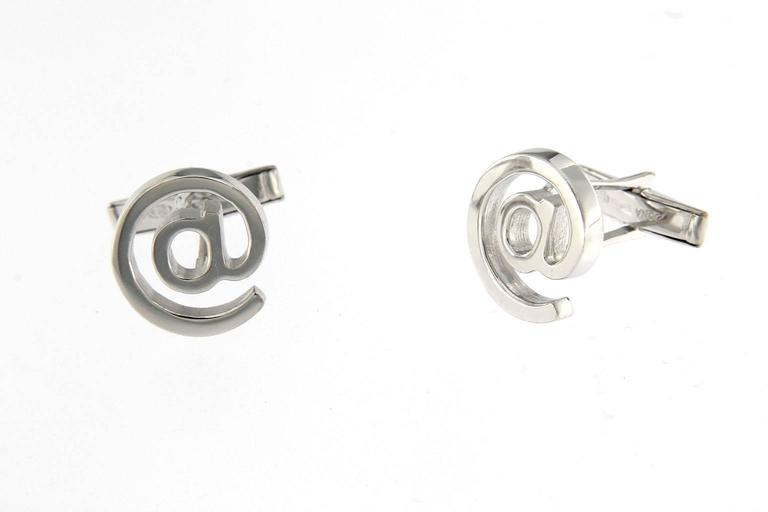 Jona Sterling Silver @ Cufflinks In New Condition For Sale In Torino, IT