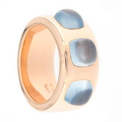 Jona Aquamarine 18 Karat Rose Gold Band Ring