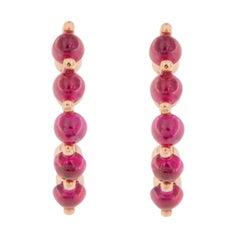 Jona Ruby 18 Karat Pink Gold Post Earrings