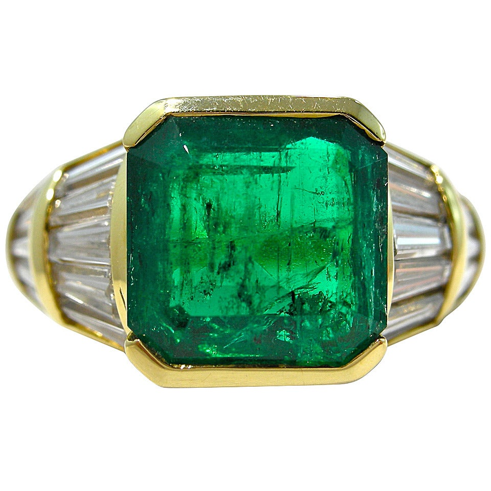 jona emerald baguette gold band ring at 1stdibs