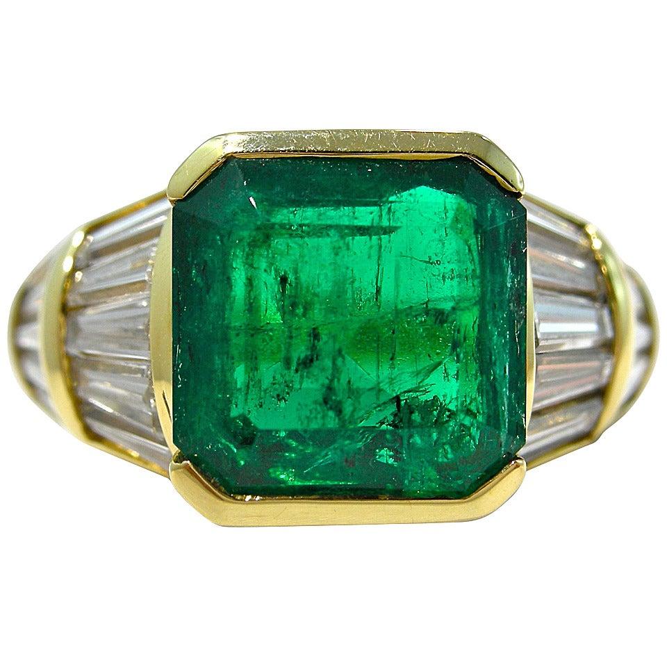 jona emerald baguette gold band ring at 1stdibs