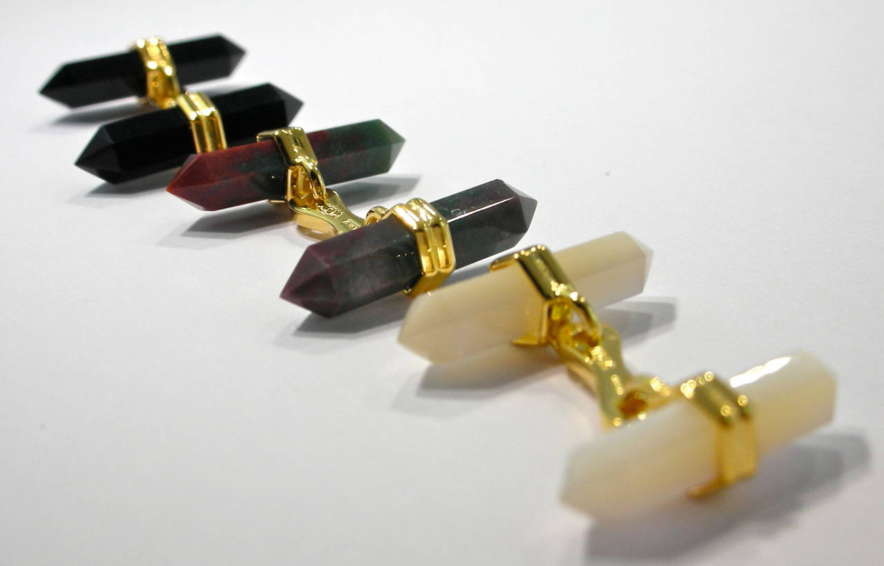 Jona Jasper Prism Bar Cufflinks In As New Condition For Sale In Torino, IT