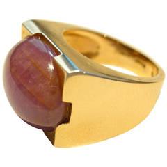 Jona Star Ruby Rose Gold Ring