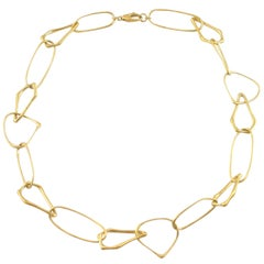 Jona Free-Form 18 Karat Yellow Gold Link Necklace