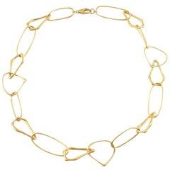 Jona Free-Form 18 Karat Yellow Gold Link Necklace