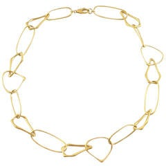 Jona Free-Form Gold Link Necklace