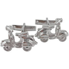 Jona Silver Scooter Cufflinks