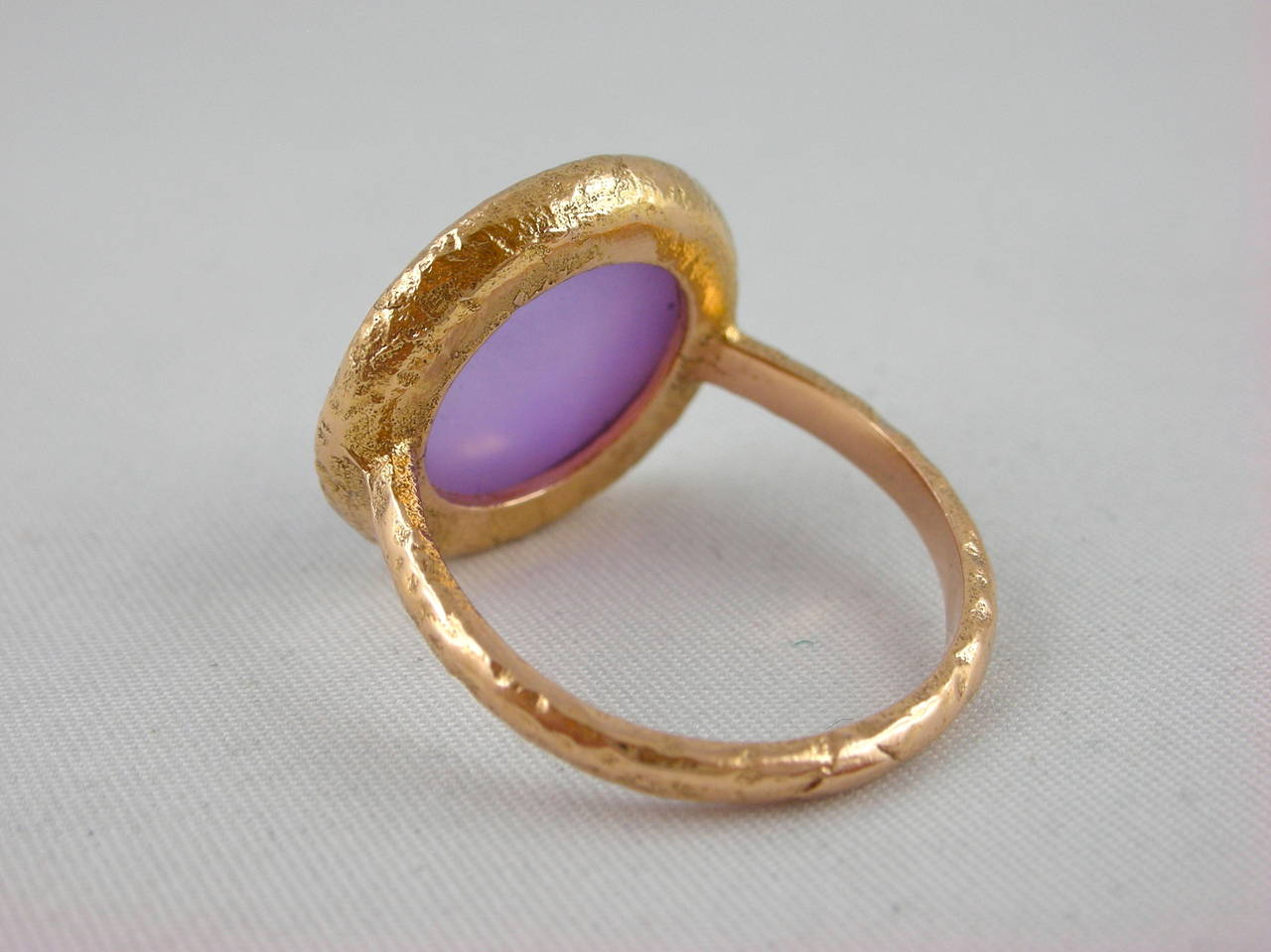 Jona Amethyst & Mother of PearlGold Ring 4