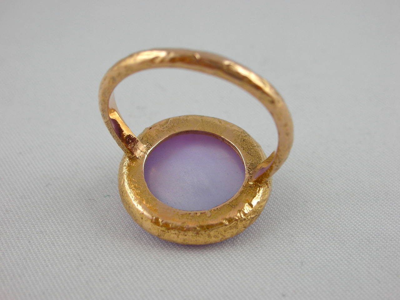 Jona Amethyst & Mother of PearlGold Ring 6